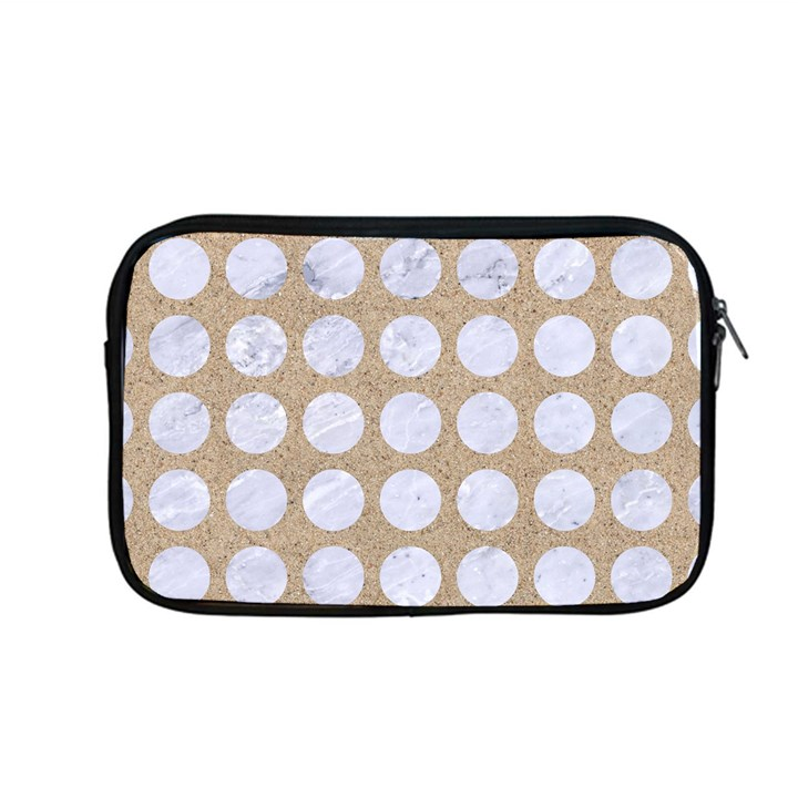 CIRCLES1 WHITE MARBLE & SAND Apple MacBook Pro 13  Zipper Case