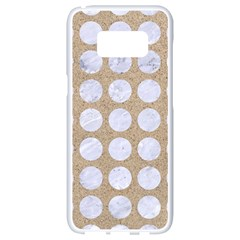 Circles1 White Marble & Sand Samsung Galaxy S8 White Seamless Case