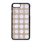 CIRCLES1 WHITE MARBLE & SAND Apple iPhone 8 Plus Seamless Case (Black) Front