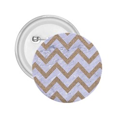 Chevron9 White Marble & Sand (r) 2 25  Buttons