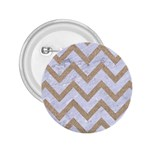 CHEVRON9 WHITE MARBLE & SAND (R) 2.25  Buttons Front