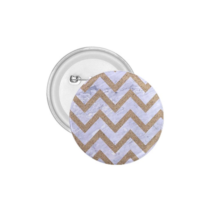 CHEVRON9 WHITE MARBLE & SAND (R) 1.75  Buttons