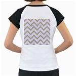 CHEVRON9 WHITE MARBLE & SAND (R) Women s Cap Sleeve T Back