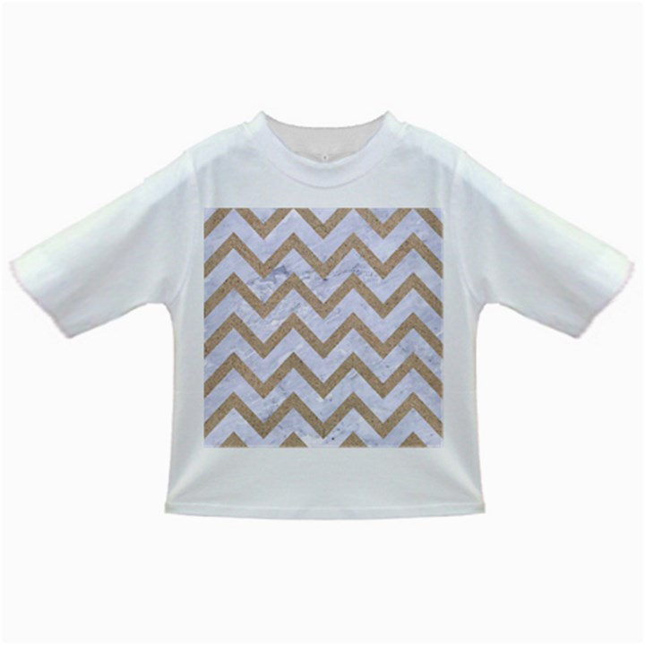 CHEVRON9 WHITE MARBLE & SAND (R) Infant/Toddler T-Shirts