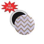 CHEVRON9 WHITE MARBLE & SAND (R) 1.75  Magnets (10 pack)  Front