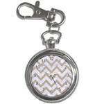 CHEVRON9 WHITE MARBLE & SAND (R) Key Chain Watches Front