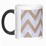 CHEVRON9 WHITE MARBLE & SAND (R) Morph Mugs Left