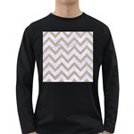 CHEVRON9 WHITE MARBLE & SAND (R) Long Sleeve Dark T-Shirts Front