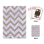 CHEVRON9 WHITE MARBLE & SAND (R) Playing Card Back