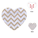 CHEVRON9 WHITE MARBLE & SAND (R) Playing Cards (Heart)  Front