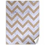CHEVRON9 WHITE MARBLE & SAND (R) Canvas 36  x 48   48 x36 Canvas - 1