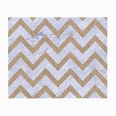 Chevron9 White Marble & Sand (r) Small Glasses Cloth (2 Side)