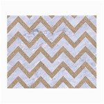CHEVRON9 WHITE MARBLE & SAND (R) Small Glasses Cloth (2-Side) Back