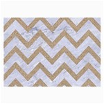 CHEVRON9 WHITE MARBLE & SAND (R) Large Glasses Cloth Front