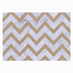 Chevron9 White Marble & Sand (r) Large Glasses Cloth (2 Side)