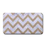 CHEVRON9 WHITE MARBLE & SAND (R) Medium Bar Mats 16 x8.5 Bar Mat - 1