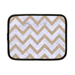 CHEVRON9 WHITE MARBLE & SAND (R) Netbook Case (Small)  Front