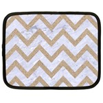 CHEVRON9 WHITE MARBLE & SAND (R) Netbook Case (Large) Front