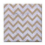 CHEVRON9 WHITE MARBLE & SAND (R) Face Towel Front