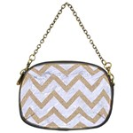 CHEVRON9 WHITE MARBLE & SAND (R) Chain Purses (One Side)  Front