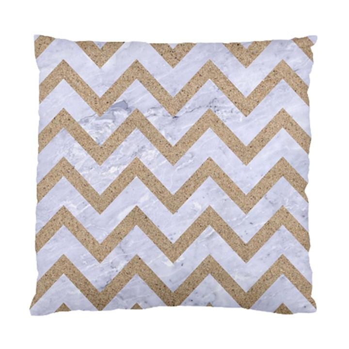 CHEVRON9 WHITE MARBLE & SAND (R) Standard Cushion Case (Two Sides)
