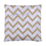 CHEVRON9 WHITE MARBLE & SAND (R) Standard Cushion Case (Two Sides) Back