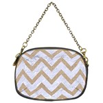 CHEVRON9 WHITE MARBLE & SAND (R) Chain Purses (Two Sides)  Front