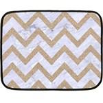 CHEVRON9 WHITE MARBLE & SAND (R) Double Sided Fleece Blanket (Mini)  35 x27 Blanket Back