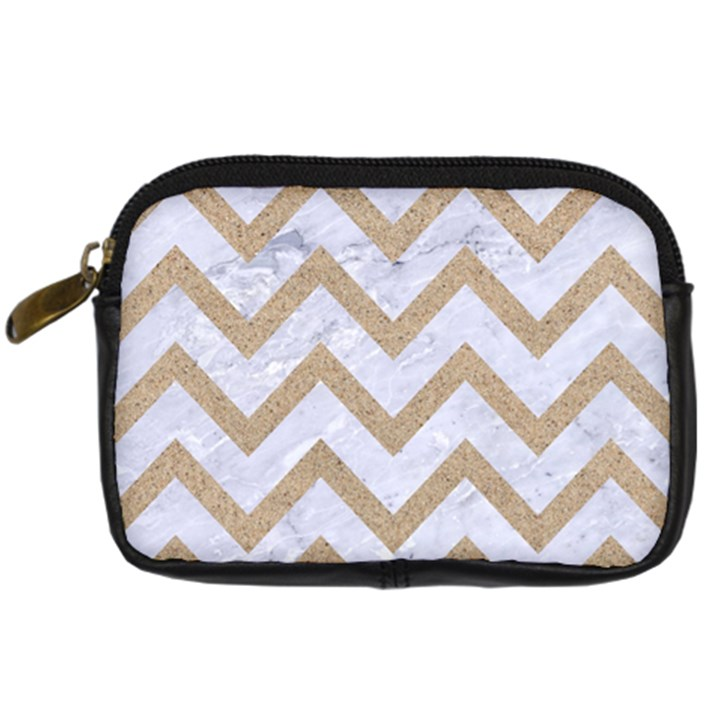 CHEVRON9 WHITE MARBLE & SAND (R) Digital Camera Cases