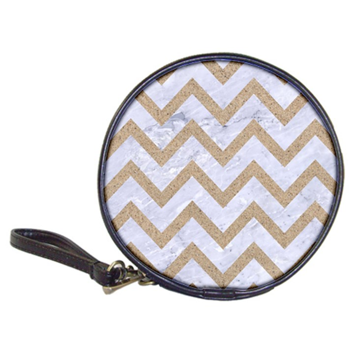 CHEVRON9 WHITE MARBLE & SAND (R) Classic 20-CD Wallets