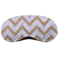 Chevron9 White Marble & Sand (r) Sleeping Masks