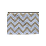 CHEVRON9 WHITE MARBLE & SAND (R) Cosmetic Bag (Medium)  Front