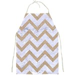 CHEVRON9 WHITE MARBLE & SAND (R) Full Print Aprons Front