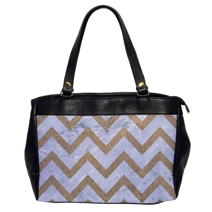 CHEVRON9 WHITE MARBLE & SAND (R) Office Handbags