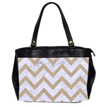 CHEVRON9 WHITE MARBLE & SAND (R) Office Handbags (2 Sides)  Front