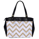 CHEVRON9 WHITE MARBLE & SAND (R) Office Handbags (2 Sides)  Back