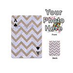 CHEVRON9 WHITE MARBLE & SAND (R) Playing Cards 54 (Mini)  Front - SpadeA