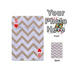 CHEVRON9 WHITE MARBLE & SAND (R) Playing Cards 54 (Mini)  Front - Heart5