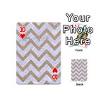 CHEVRON9 WHITE MARBLE & SAND (R) Playing Cards 54 (Mini)  Front - Heart10