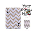 CHEVRON9 WHITE MARBLE & SAND (R) Playing Cards 54 (Mini)  Front - Spade5