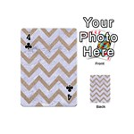 CHEVRON9 WHITE MARBLE & SAND (R) Playing Cards 54 (Mini)  Front - Club4