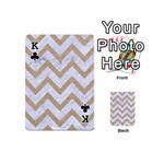 CHEVRON9 WHITE MARBLE & SAND (R) Playing Cards 54 (Mini)  Front - ClubK