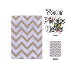 CHEVRON9 WHITE MARBLE & SAND (R) Playing Cards 54 (Mini)  Back