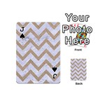 CHEVRON9 WHITE MARBLE & SAND (R) Playing Cards 54 (Mini)  Front - SpadeJ