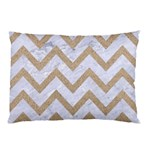 CHEVRON9 WHITE MARBLE & SAND (R) Pillow Case (Two Sides) Front