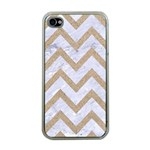CHEVRON9 WHITE MARBLE & SAND (R) Apple iPhone 4 Case (Clear) Front