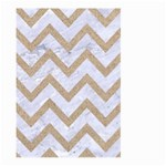 CHEVRON9 WHITE MARBLE & SAND (R) Large Garden Flag (Two Sides) Front