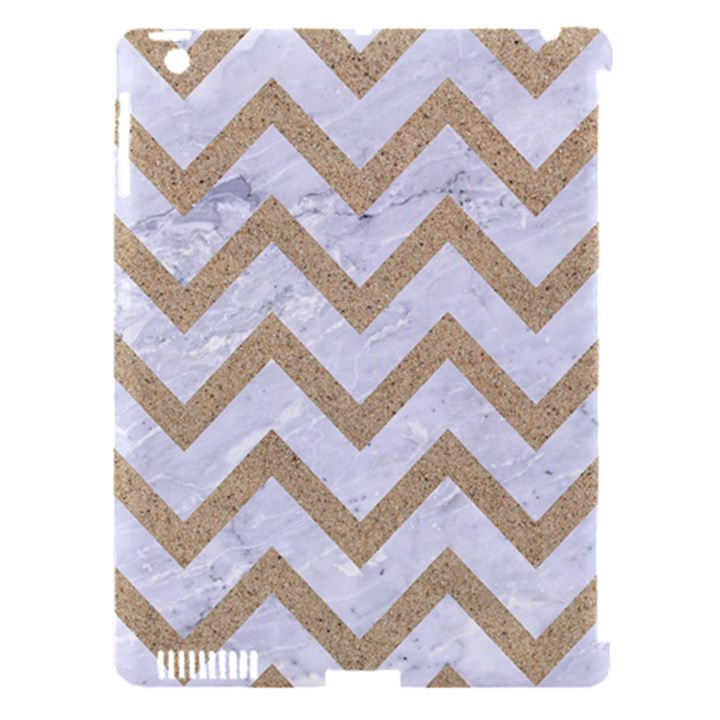 CHEVRON9 WHITE MARBLE & SAND (R) Apple iPad 3/4 Hardshell Case (Compatible with Smart Cover)