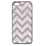 CHEVRON9 WHITE MARBLE & SAND (R) Apple iPhone 5 Seamless Case (Black) Front