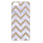 CHEVRON9 WHITE MARBLE & SAND (R) Apple iPhone 5 Seamless Case (White) Front